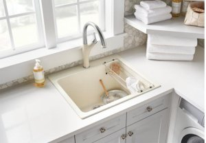 Blanco Liven Laundry Sink - Metallic Gray