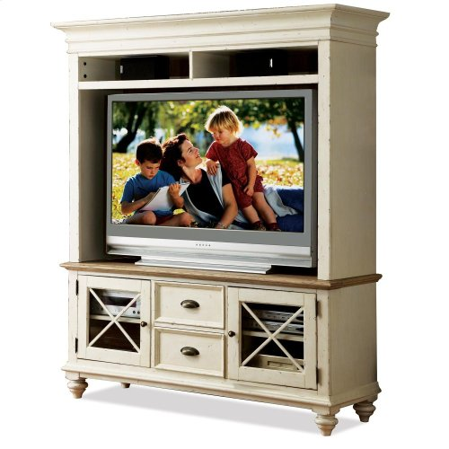Coventry Two Tone - 58-inch TV Console - Weathered Driftwood/dover White Finish