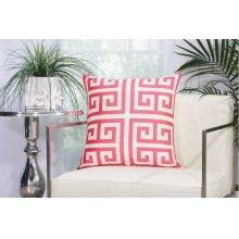 "Outdoor Pillow As047 Hot Pink 20"" X 20"" Throw Pillow"