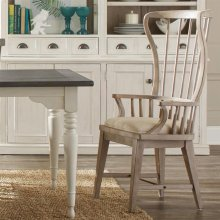 Juniper - Windsor Upholstered Hostess Chair - Natural Finish