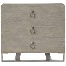 Linea Nightstand in Cerused Greige (384)