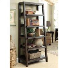 Promenade - Canted Bookcase - Warm Cocoa Finish