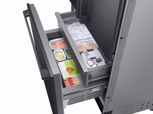 "21 cu ft. Capacity 3-Door French Door Panel Ready 36"" Built-In Chef Collection Refrigerator"