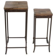 Trenton 2Pc Accent Table in Distressed Pine Product Image