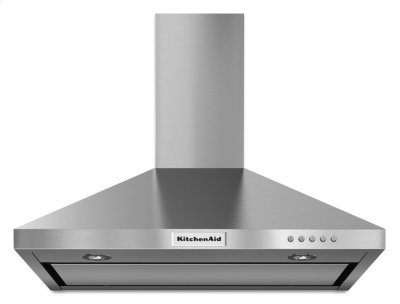 30'' Wall-Mount, 3-Speed Canopy Hood - Stainless Steel Product Image