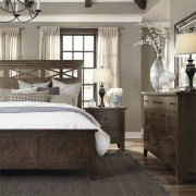 Queen Panel Bed, Dresser & Mirror, N/S Product Image