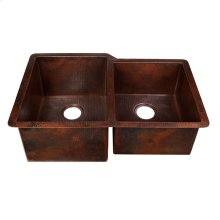 60/40 Black Copper Kitchen Sink