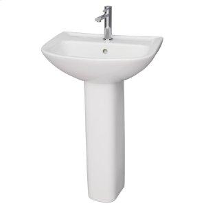 Lara 510 Pedestal Lavatory - White Product Image