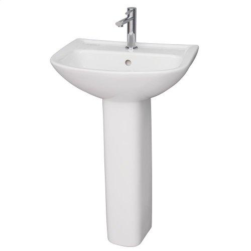 Lara 510 Pedestal Lavatory - White