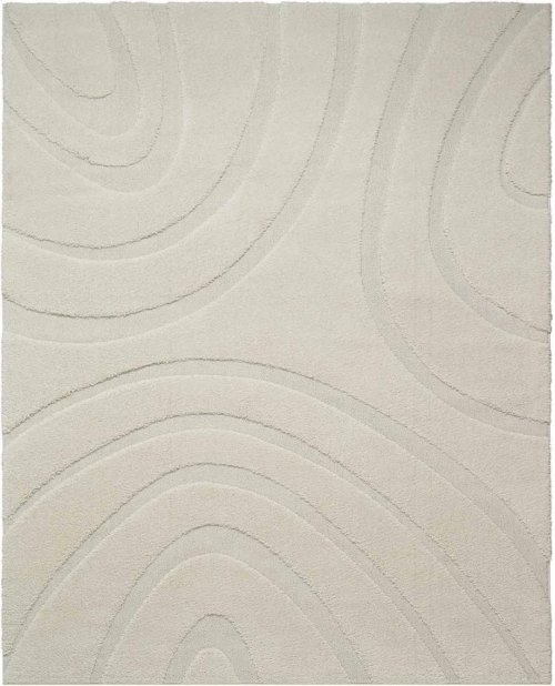 Jaspar Jasp1 White Rectangle Rug 8'2'' X 10'