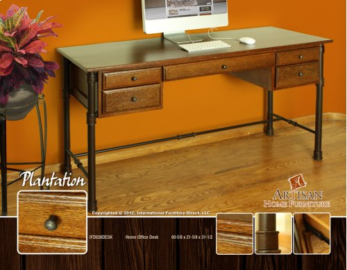 Home Office Desk w/Coconut Palm Tree