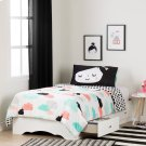 Twin Mates Bed with Night Garden Comforter and Pillowcase - 39'' Product Image