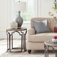 Estelle - Round Side Table - Washed Gray Finish
