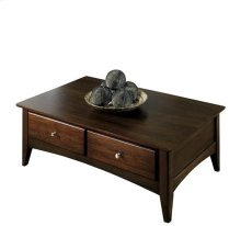 Metro II Storage Coffee Table Ebony Brown finish