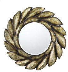 TIVOLI ROUND PU FRAME MIRROR WITH BEVELED GLASS
