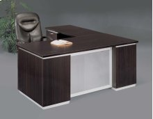 Pimlico Left Executive L Desk with Frosted Glass Modesty Panel