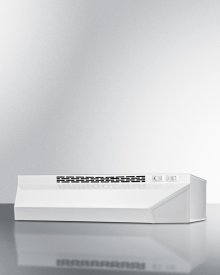 """18"""" Wide Ductless Range Hood In White Finish"""