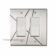Modernist Double Rocker Switch Plate