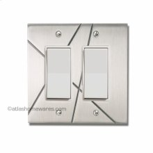 Modernist Double Rocker Switch Plate