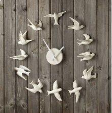 Porcelain Bisque Bird Wall Clock.