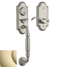 Lifetime Polished Brass Ashton Two-Point Lock Handleset