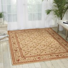 Ashton House As08 Bge Round Rug 5'6'' X 5'6''