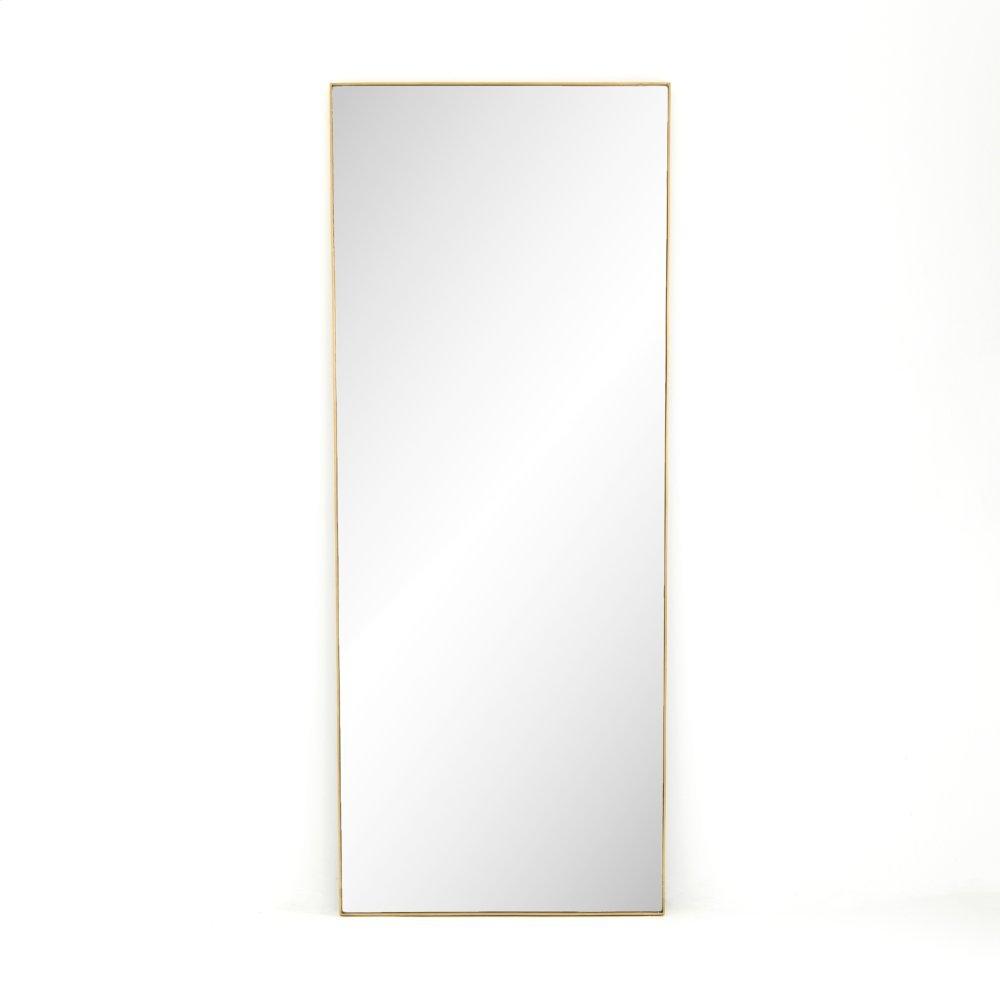 Polished Brass Finish Bellvue Floor Mirror