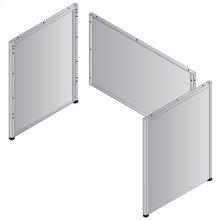 "Metal Desk Base - 66""/68"" Double Pedestal Credenza"