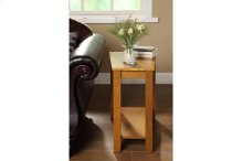 Wedged Chairside Table, Oak
