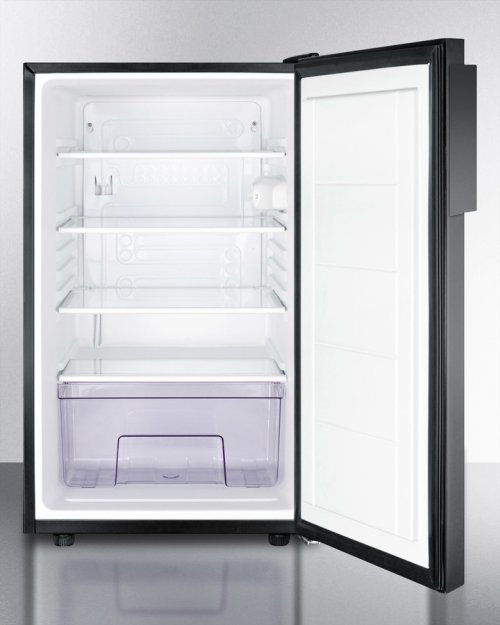 "20"" Wide Counter Height All-refrigerator for General Purpose Use, Auto Defrost With A Lock and Black Exterior"