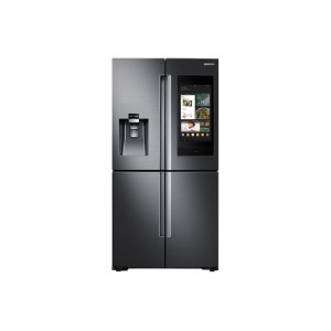 Samsung22 cu. ft. Family Hub™ Counter Depth 4-Door Flex™ Refrigerator in Black Stainless Steel