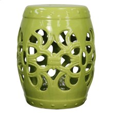 Ribbon Garden Stool, Green