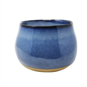 Outdoor Citronella Candle In Ceramic , Blue