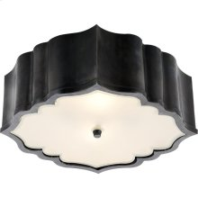 Visual Comfort AH4025GM-FG Alexa Hampton Balthazar 3 Light 14 inch Gun Metal with Wax Flush Mount Ceiling Light