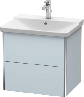 Vanity Unit Wall-mounted, Light Blue Satin Matt Lacquer