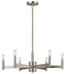 Erzo 6 Light Chandelier Satin Nickel