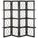 4 Panel Screen Black Finish Product Image