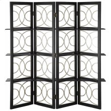 4 Panel Screen Black Finish