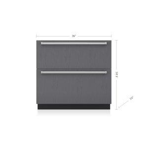 "36"" Designer Refrigerator/Freezer Drawers - Panel Ready"