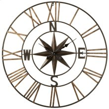 Compass with Star Wall Clock.