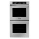 "Dacor27"" Heritage Double Wall Oven, Silver Stainless Steel with Pro Style Handle"