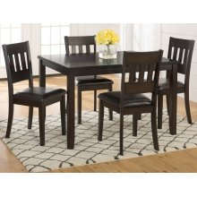 Dark Prairie 5-pack- Table and 4 Chairs