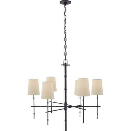 Visual Comfort S5161BZ-PL Studio Grenol 6 Light 33 inch Bronze Chandelier Ceiling Light