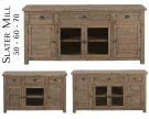 "Slater Mill Pine 60"" Media Unit Product Image"