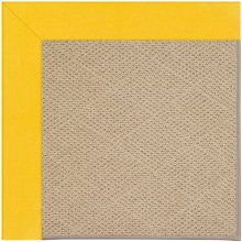 Creative Concepts-Cane Wicker Canvas Sunflower Yel Machine Tufted Rugs