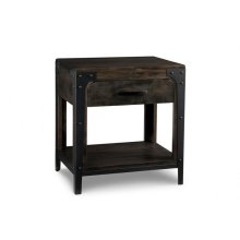 Portland 1 Drawer Open Nightstand