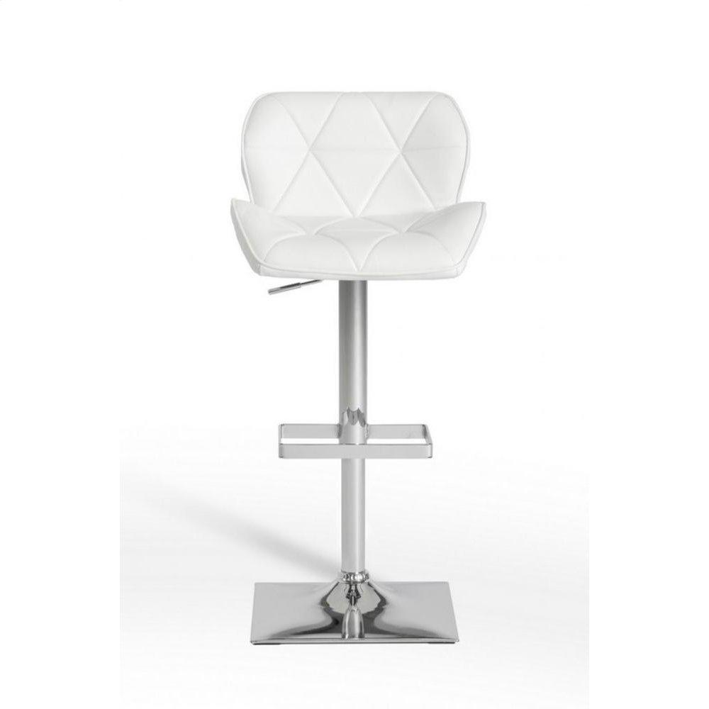 Modrest Otto Modern White Leatherette Bar Stool