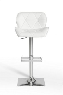 Modrest Otto Modern White Leatherette Bar Stool