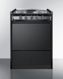 "24"" Wide Slide-in Electric Range In Black With Lower Storage Compartment; Replaces Tem619r"