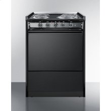 """24"""" Wide Slide-in Electric Range In Black With Lower Storage Compartment; Replaces Tem619r"""